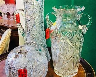 Large American Brilliant Period Cut Glass