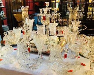 American Brilliant Period Cut Glass and Baccarat Glass
