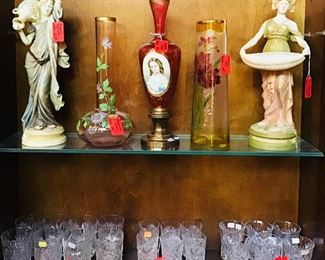 Moser, French and American Glass