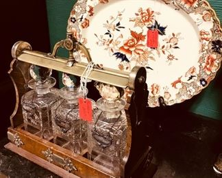 Tantalus and Spode Platter