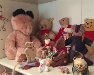 Bears, some of so MANY, some antique, some vintage, some new