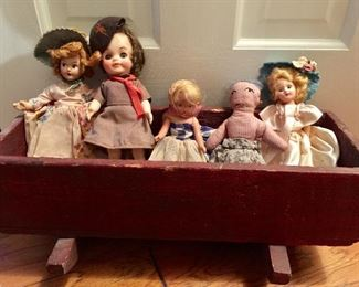 Vintage Brownie doll in uniform (Girl Scouts) 1940's dolls