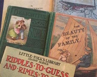 We have so many antique books, including children's books