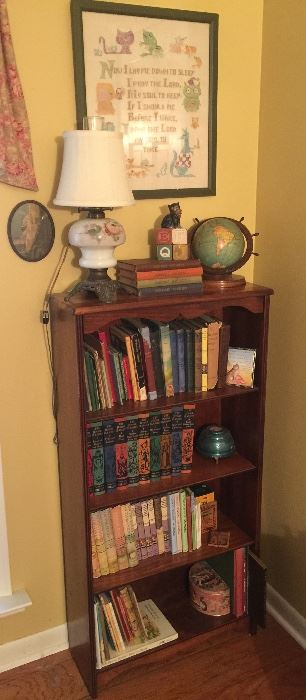 Vintage child's or small book case filled with great book treasures