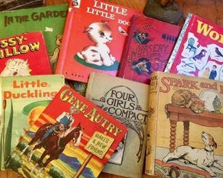 Vintage Golden books, Whitman, and others Gene Autry