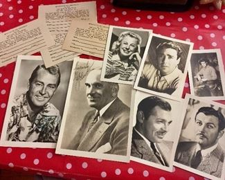 These are autographed Hollywood celebrity photos.