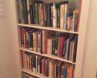 A portion of MANY books.