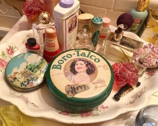 Vintage cosmetic containers