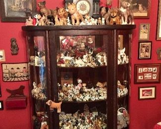 100's of every kind of dog on the planet: chalkware, bronze, Japan, cast iron, ceramic, etc.