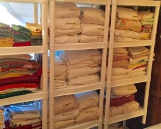 Sheets, blankets, towels, throws