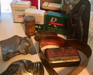 Dog Chocolate molds and vintage kitchen fun