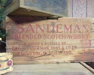 Another  great advertising box. Whisky from Scotland