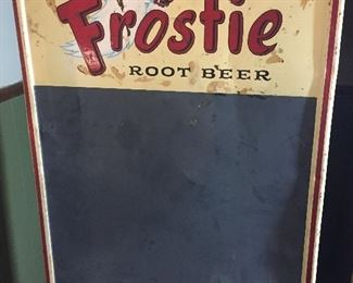 Frosted Root Beer advertising sign chalkboard
