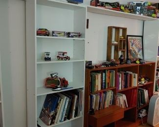 books and Die Cast Cars