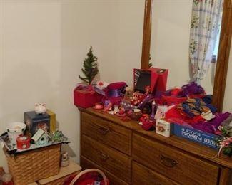Dresser and Christmas Decor
