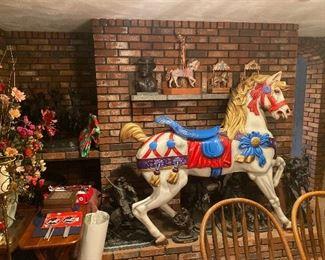 Authentic Macy's carousel horse, massive