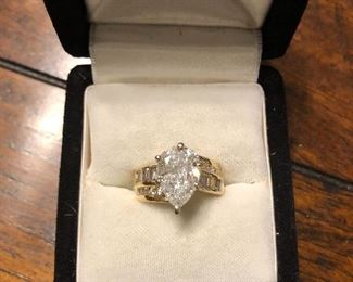 Beautiful 14kt 2.5 cart Diamond Ring Only the appraisal for this ring will be at the sale, an appointment must be made to see in person.