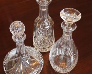 Crystal decanters.