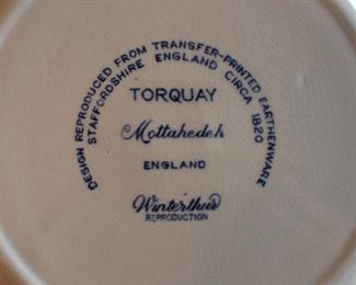 Backside of Mottahedeh plates.