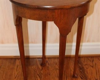 "Sweet demilune gateleg table.  Measures: 27 3/4"" H x 34"" W x 17"" D folded, open 34"" round."