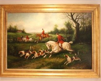 "Hunt painting measures 30 1/2"" x 42 1/2""."