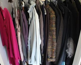 This closet is full of finely made dress clothing.