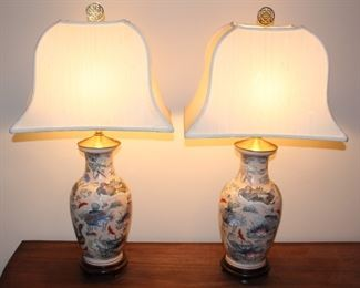 Pair of lamps.