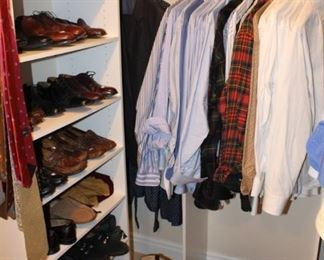 Quality men's shoes and shirts.
