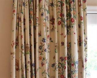 Drapes and hardware are also for sale through out the house.