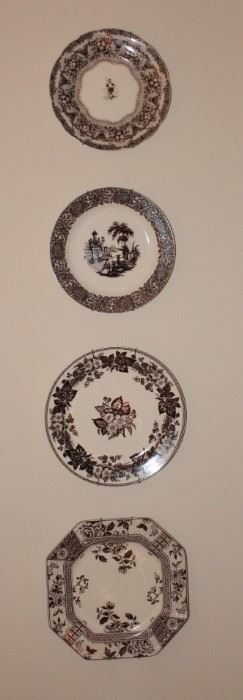 We have doubles/pairs of each of these transfer ware plates.