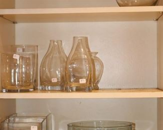 We have glass vases in the garage and lower level as well.