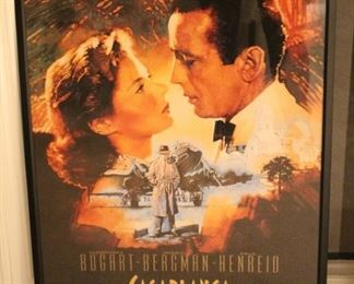 Framed Casablanca movie poster.