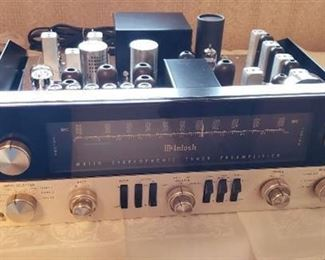 Vintage McIntosh MX110 Stereophonic Tuner Preamplifier with Panloc Mounting Bracket - Works - Cables and Antenna Included