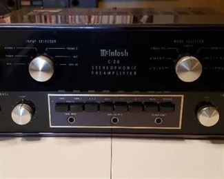 Vintage McIntosh C 28 Stereophonic Preamplifier (Works) - Serial No. AK3713 - with Original Shipping Box