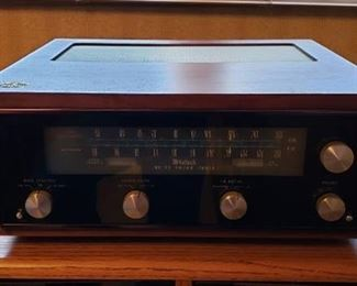 Vintage McIntosh MR 73 FM/AM Tuner with Walnut Cabinet - Works - Cables and Antenna Included