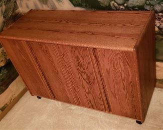 Custom Woodwork & Design Solid Wood 4 door Cabinet on Casters - 48 in. x 19 in. x 31 1/2 in.