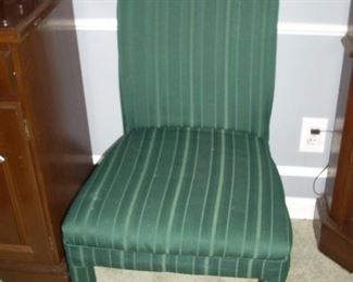 2 Green Parsons Chairs