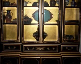 Oriental Painted Hutch