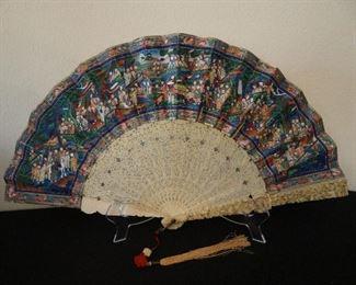 Wonderful Antique Fan Carved
