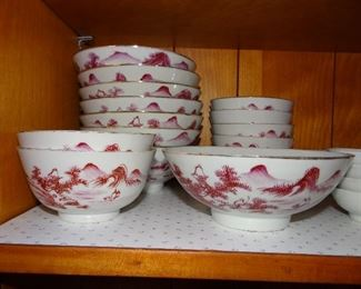 Hand Painted Bowls and Cups