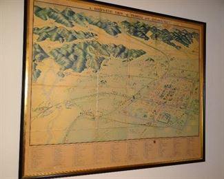 Antique Map of Peiping, China