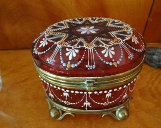 Beautiful Antique Box with Enameling
