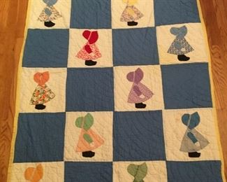 Hand stitched Childs quilt