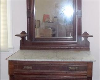 Victorian / Aesthetic Marbletop Dresser.  This was also buried at the last sale.
