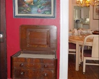 Antique Flip Top Sewing Stand