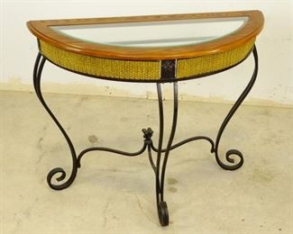 Faux Rope Entryway Table