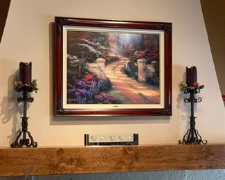 *Signed* Thomas Kinkade Spring Gate Canvas Lithograph Numbered 1569/3950	42wx33Hin in frame		Comes with COA