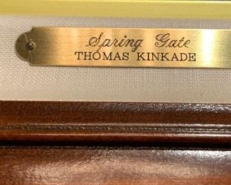*Signed* Thomas Kinkade Spring Gate Canvas Lithograph Numbered 1569/395042wx33Hin in frameComes with COA