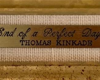 Thomas Kinkade End of a Perfect Day III Numbered LithographFrame: 17.5x23.5inComes with COA