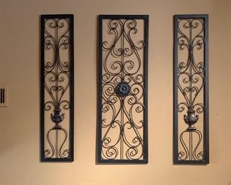 3 Piece Scroll Iron Wall Decor